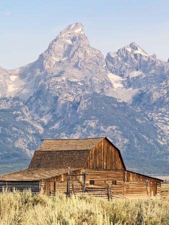 Mormon Row Barn and Tetons photo