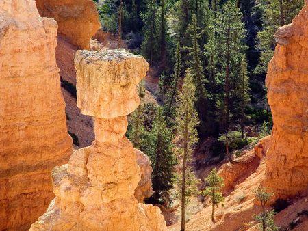 thor's: Top of Thors Hammer, Hoo Doo at Bryce Canyon National Park, Utah Stock Photo