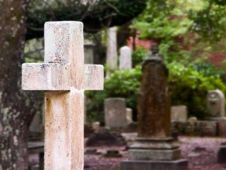 burying: Hope of Glory, Cross at The Old Burying Ground, Beaufort, NC