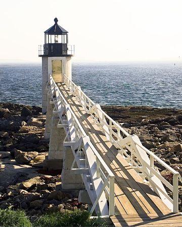 navigational light: Marshall Point Lighthouse, ME Stock Photo