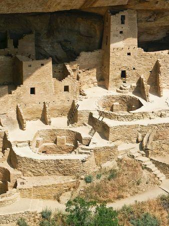 메사 베르데 (Mesa Verde) 절벽 궁전 (콜로라도) 스톡 콘텐츠