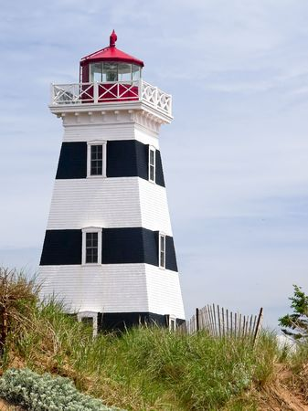 Lighthouse at West Point, PEI, Canada photo