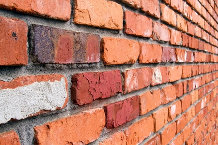diagonal lines: Brick Wall Angled Stock Photo