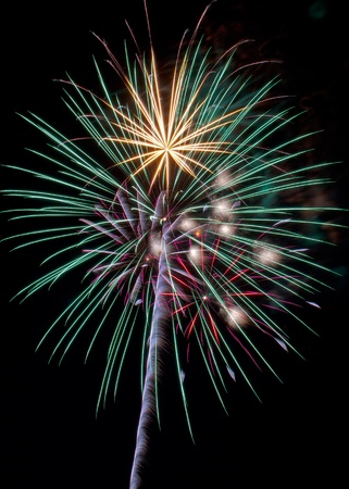 Colorful Fireworks Display photo