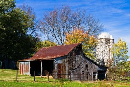 barnyard: Old Barn and Silo