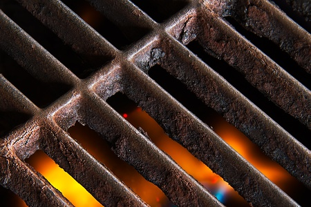 Flaming Grill Stock Photo - 13366333