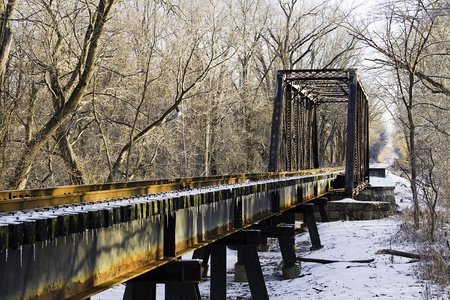 trestle: Railroad Trestle with Icicles