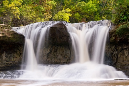 cataract falls: Waterfall - Upper Cataract Falls, Indiana Stock Photo