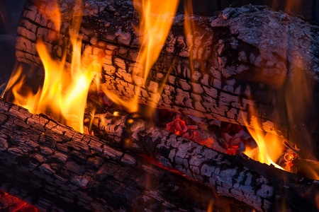 Wood Fire Stock Photo