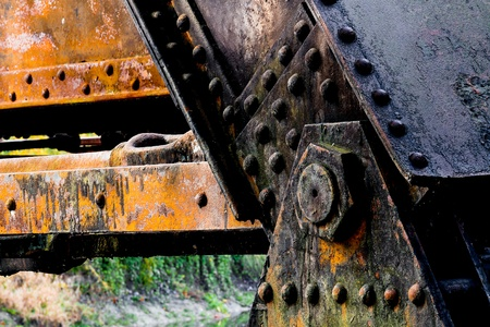 Railroad Trestle Grungy Detail