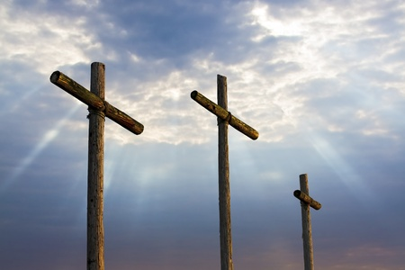 Three Wooden Crosses photo