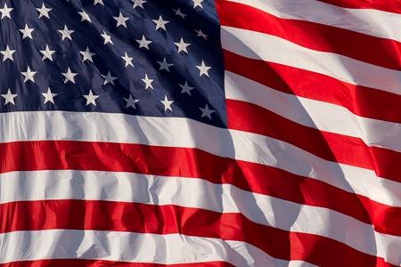 USA Flag Close Up photo