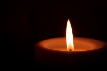 candle: Simple Candle in the Dark with Text Space