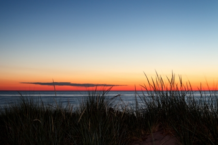 Sunset Dune Stock Photo