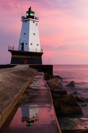 ludington: Sunset Light at Ludington, Michigan