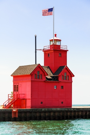 Holland, Michigan South Pierhead Lighthouse is known as  photo