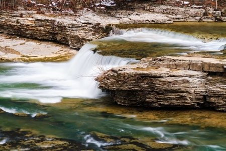 cataract falls: One of several small drops before the big plunge over Indiana