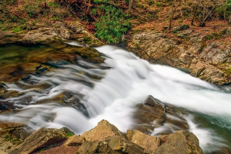 One of the many beautiful cascades along Laurel Creek Road in Great Smoky Mountains National Park, Tennessee