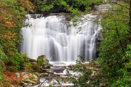 great smoky national park: Meigs Falls is a beautiful waterfall along Little River Road in Great Smoky Mountains National Park, Tennessee, USA  Stock Photo