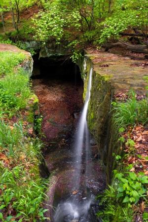 crevice: Rock Bridge Waterfall