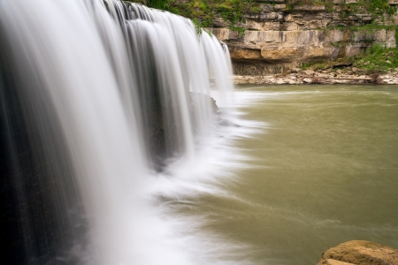 cataract falls: Indianas Upper Cataract Falls as view from the side. Stock Photo