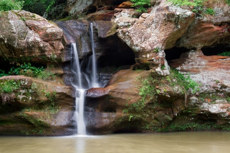 The Upper Falls at Old Mans Cave in Ohios Hocking Hills near Logan, Ohio. photo