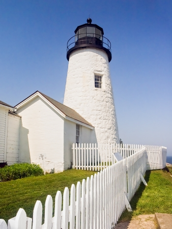 The Pemaquid Point Lighthouse, near Bristol, Maine, was featured on Maine photo
