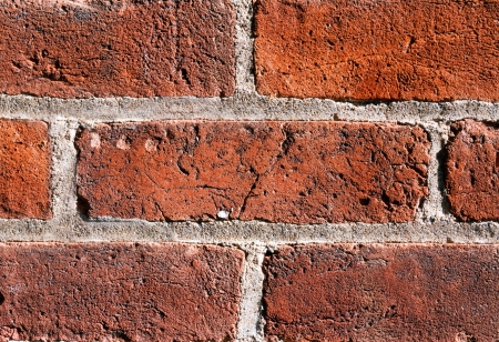 An old wall is comprised of brick showing weathered texture. photo
