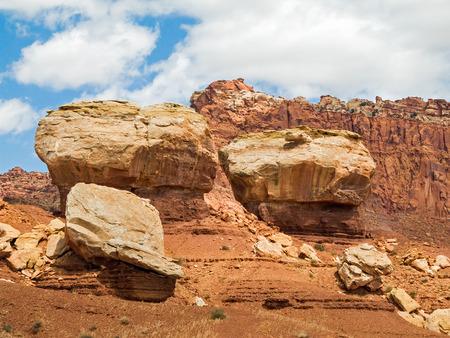 Rocky landscape at Capitol Reef National Park in Utah