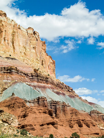 uplift: The Waterpocket Fold, a long geological feature running through Utah