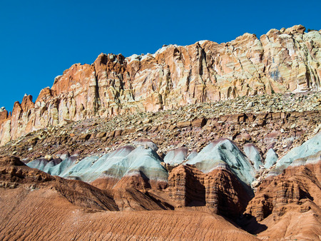 tectonics: The Waterpocket Fold, a nearly one hundred mile long geological feature Utah Stock Photo