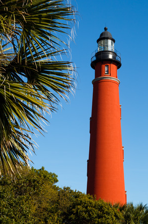 The brilliant red lighthouse at Florida