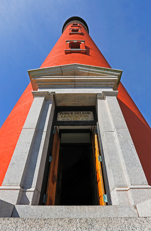 The brilliant red lighthouse at Florida photo
