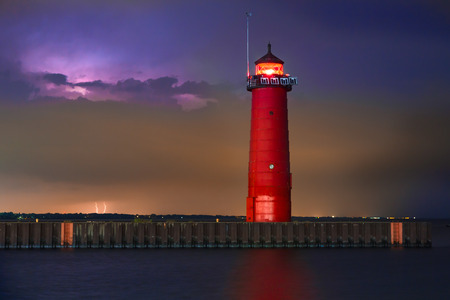 The Kenosha North Pier Lighthouse, on Wisconsin photo