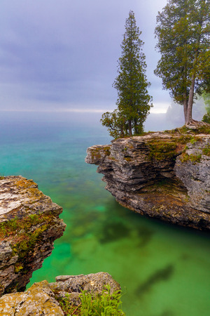 stoney point: The rocky Lake Michigan coast of Door County, Wisconsin