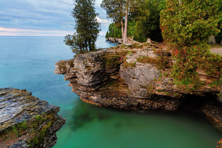 stoney point: Early morning long exposure photo at Door County, Wisconsin