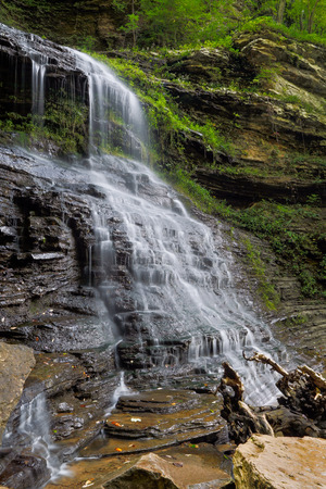 lower section: The lower section of Cathedral Falls, a waterfall in West Virginia