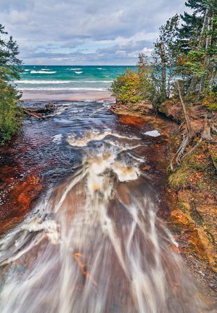 upper: Upper Peninsula Michigan Stock Photo