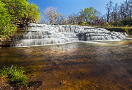 man waterfalls: Thistlethwaite Falls in Richmond, Indiana