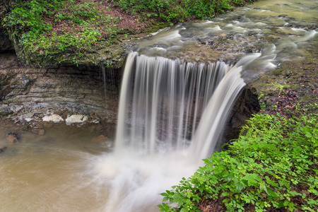 rains: One of Indianas lesser known waterfalls, Jennings Countys Rock Rest Falls flows robustly after summer rains.