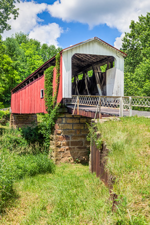 yesteryear: Also known as the Hildreth Covered Bridge or Lafabers Mill Bridge, the historic Hills Covered Bridge crosses the Little Muskingum River in Washington County, Ohio.