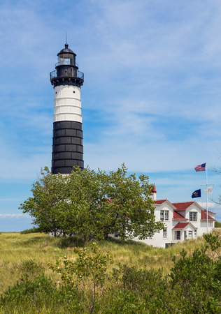 ludington: Built in 1867, Michigans Big Sable Point Lighthouse stands tall over Lake Michigan in beautiful Ludington State Park.