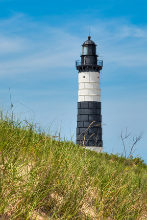 ludington: The Big Sable Point Lighthouse stands on Lake Michigans eastern shore in Michigans Ludington State Park.