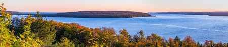 upper peninsula: Grand Island, surrounded by Munising Bay, is situated on Upper Peninsula Michigans Lake Superior Coast.