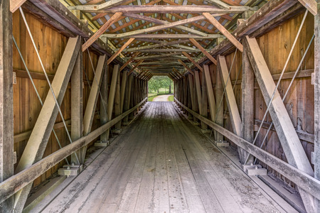 look inside: A look inside the historic Foraker Covered Bridge, aka Weddle Bridge, reveals the spans wooden trusses and decking.