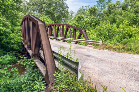 monroe: This skewed pony truss iron bridge spans a creek along Jericho Low Gap Road in rural Monroe County, Ohio.