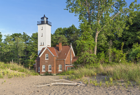 Built in 1872, the Presque Isle Lighthouse marks a large peninsula extending into Lake Erie at Erie, Pennsylvania.