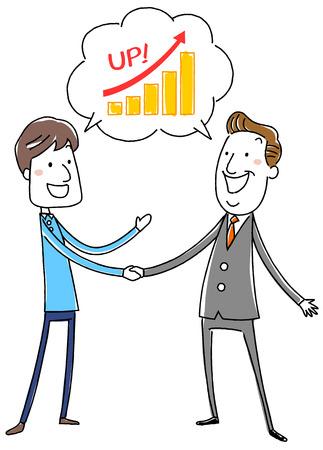 握手するビジネスマン  イラスト・ベクター素材