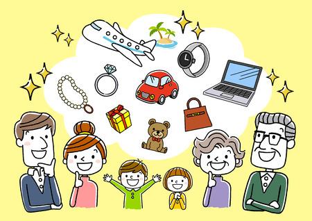 Familie der dritten Generation: Luxus, Wunsch und Vorstellung