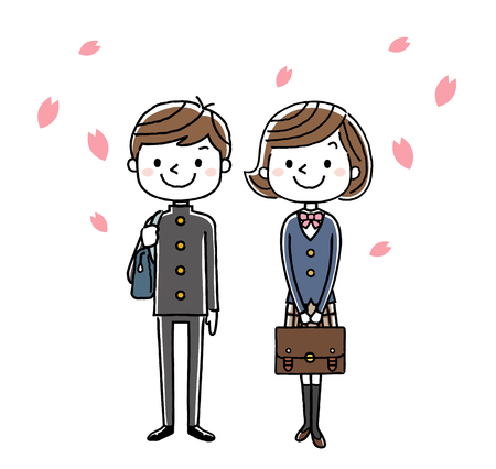 Boy and girl in entrance ceremony